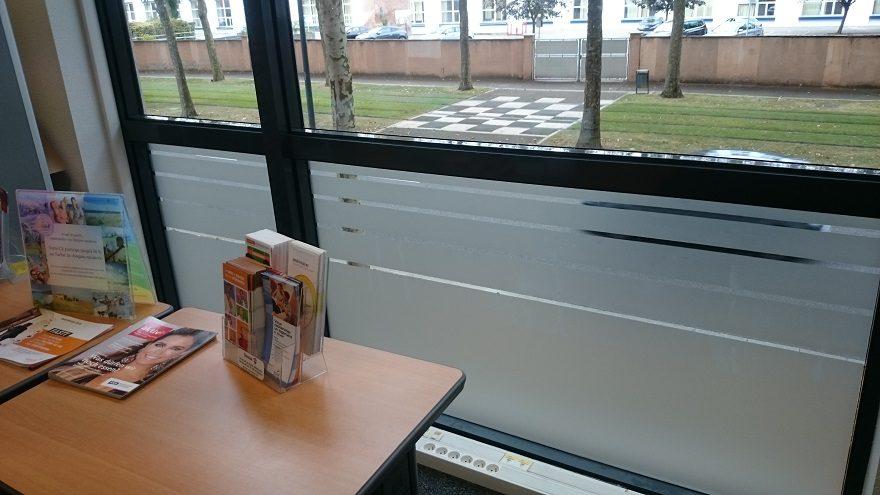 Adhésif dépoli discrétion vitres