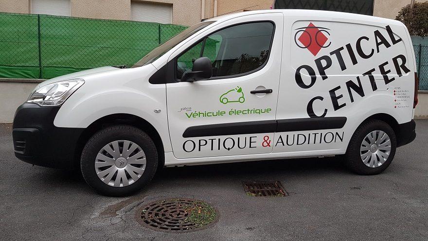 Décoration adhésive véhicule électrique